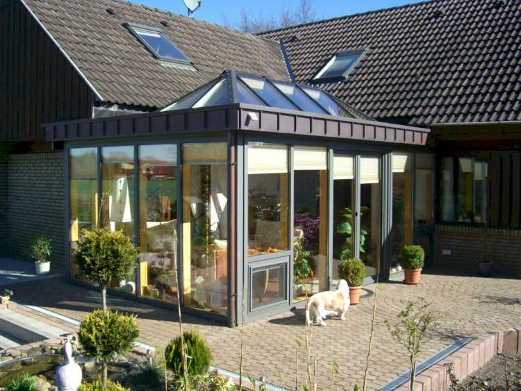 Wintergarten Mit Flachdach hamburg flachdach mit lichtkuppel biotrop wintergärten gmbh